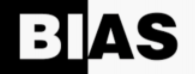 """""""Bias"""" written in black and white lettering"""