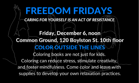"Poster advertising ""Freedom Fridays"""