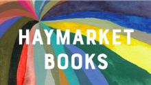 """""""Haymarket books"""" written on rainbow background"""